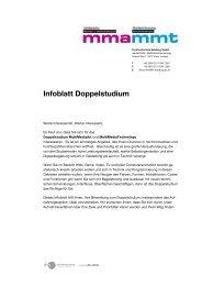 Infoblatt Doppelstudium - Fachhochschule Salzburg