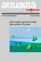 attualità 01/2011: Calore naturale:una fonte di - Viessmann
