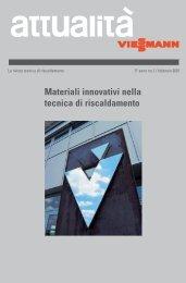 attualità 01/2001: Materiali innovativi nella tecnica di - Viessmann