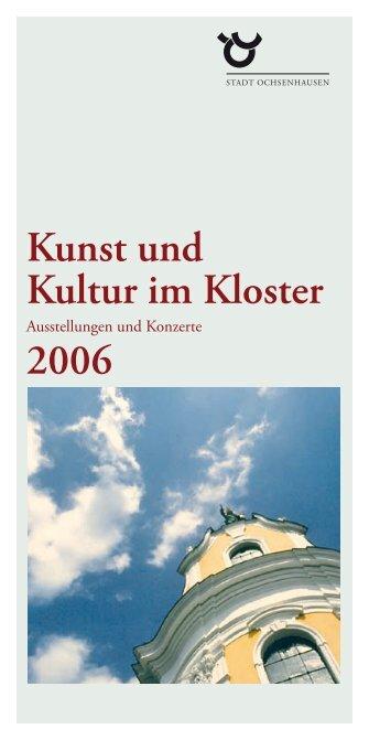 Kunst und Kultur im Kloster 2006 - Stadt Ochsenhausen