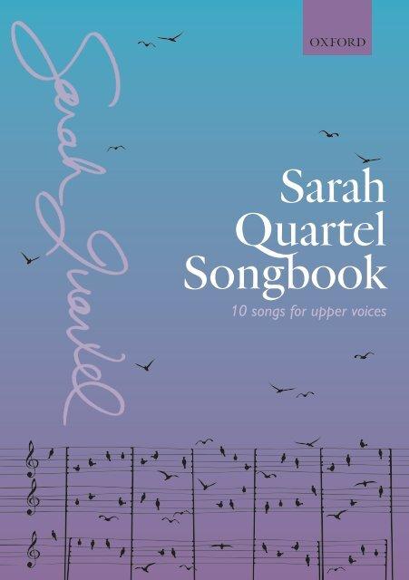 Sarah Quartel - Songbook for upper voices