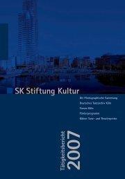 Tätigkeitsbericht 2007 BSK Stiftung Kultur