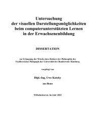 Untersuchung der visuellen Darstellungsmöglichkeiten beim ...