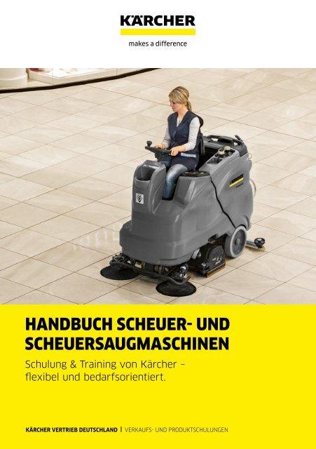 HANDBUCH SCHEUER- UND SCHEUERSAUGMASCHINEN.