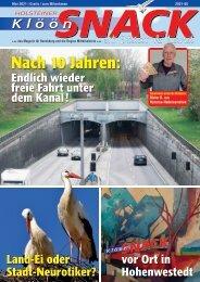 Holsteiner KlöönSNACK - Ausgabe Rendsburg - Mai 2021