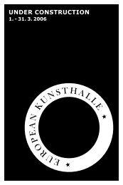 Das Programmheft zum Download - European Kunsthalle