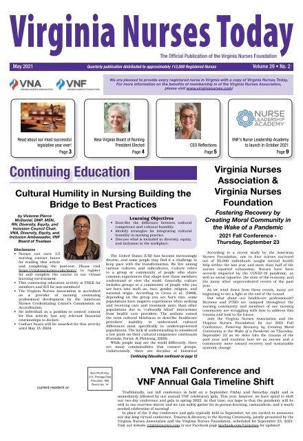 Virginia Nurses Today - May 2021