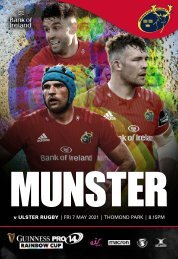 Munster Rugby v Ulster Rugby Match Programme