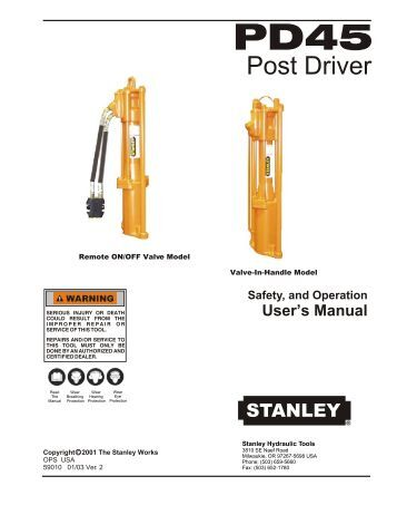 Safety, and Operation User's Manual - Tool-Smith