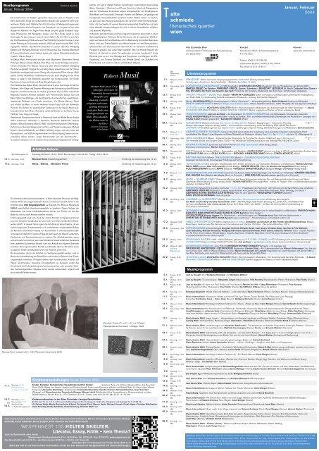 Literatur, Essay, Kritik – kein Thema? - Alte Schmiede