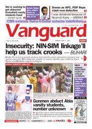 07052021 - Insecurity: NIN-SIM linkage'll help us track crooks — BUHARI