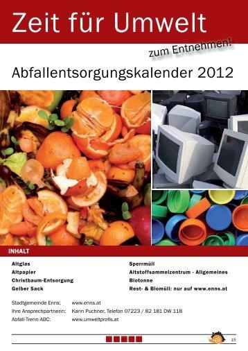 Abfallentsorgungskalender 2012 - Enns