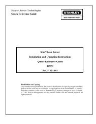StanVision Sensor Installation and Operating Instructions Quick ...
