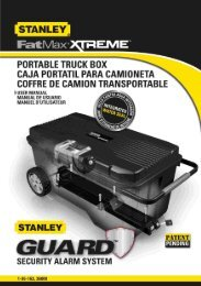 Stanley FatMax Xtreme Portable Truck Box User Manual