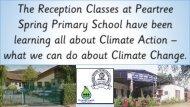 Peartree Spring Primary School - Reception SDG13 Work