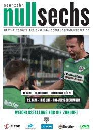 nullsechs Stadionmagazin - Heft 10 2019/20