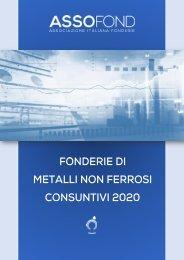 Fonderie di metalli non ferrosi - Consuntivi 2020