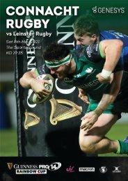 Connacht v Leinster PRO14 Rainbow Cup Digital Match Programme