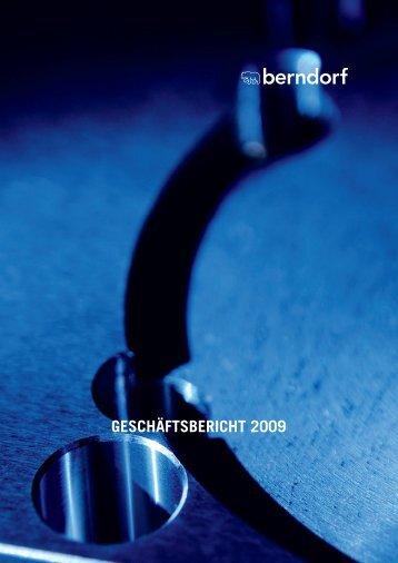 Bericht 2009 als PDF - in der Berndorf AG