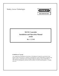 MC521 Controller Installation and Operation Manual