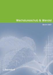 Lagebericht - in der Berndorf AG