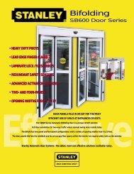 SB600 BiFolding Door - Stanley Access Technologies.com