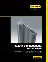aluminum continuous geared hinges - Stanley Commercial Hardware