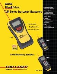 TLM Series Tru-Laser Measurers - Stanley