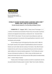 Dura-Care Series 7200 TL-FBO ICU Door - Stanley Access ...