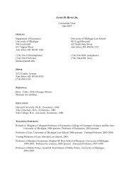 James R. Hines Jr. - Stephen M. Ross School of Business ...