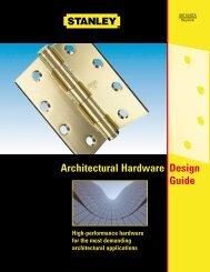 Stanley Architectural Hardware Design Guide