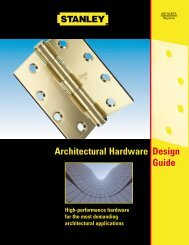 Stanley Architectural Hardware Design Guide
