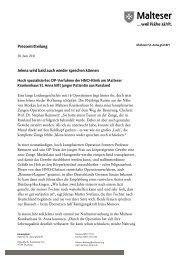 zur Pressemitteilung vom 28. Juni 2011 - Malteser Krankenhaus St ...
