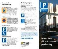 Parkeringskarta Uppsala centrum 2011 (pdf, 374 kB) - Destination ...