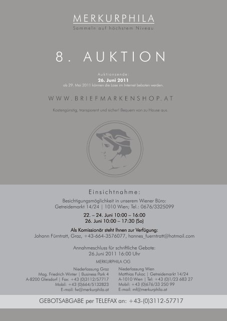 8. AUKTION - Briefmarkenshop.at