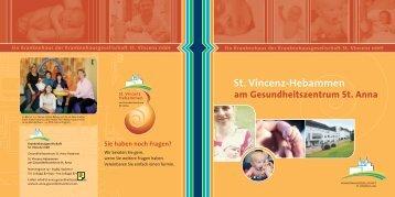 St. Vincenz-Hebammen (PDF) - Gesundheitszentrum St.Anna