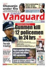 09052021 - Gunmen kill 12 policemen in 24hrs
