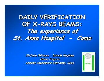 The experience of St. Anna Hospital - Como The - the EORTC ...