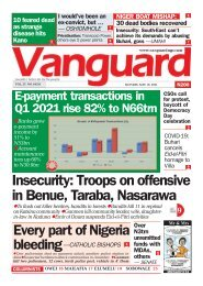 10052021 - Insecurity: Troops on offensive in Benue, Taraba, Nasarawa
