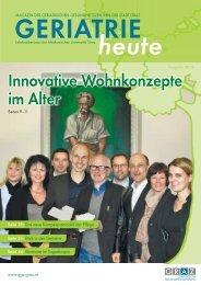 Innovative Wohnkonzepte im Alter - Geriatrische ...