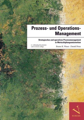 Leseprobe: Waser/Peter: Prozess- und Operations-Management