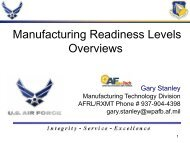 Manufacturing Readiness Levels Overviews - Usasymposium.com