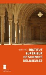 Livret ISSR 2021-2022