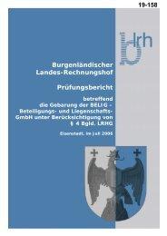 Burgenländischer Landes-Rechnungshof ... - Burgenland.at