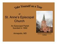 Today, St. Anne's Parish translates the messages of scripture in our ...