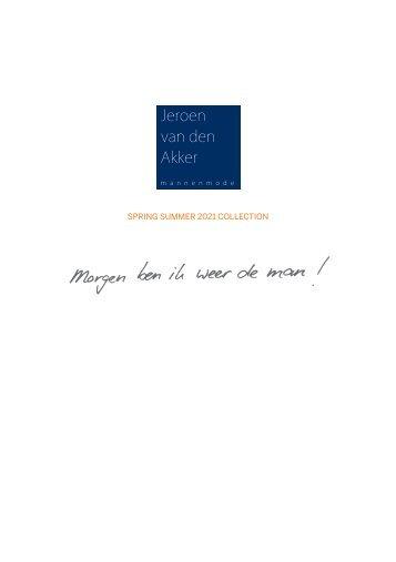 Spring Summer  2021 Collection  Jeroen van den Akker