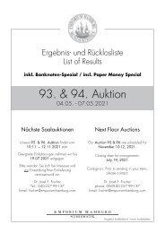 93. & 94. Auktion - Ergebnisliste - Emporium Hamburg