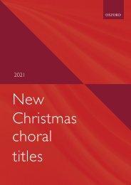 Christmas 2021 repertoire sampler