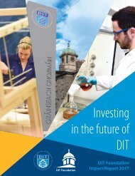 DIT Foundation Donor Report 2017