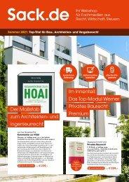 Sommer 2021: Top-Titel für Bau-, Architekten- und Vergaberecht